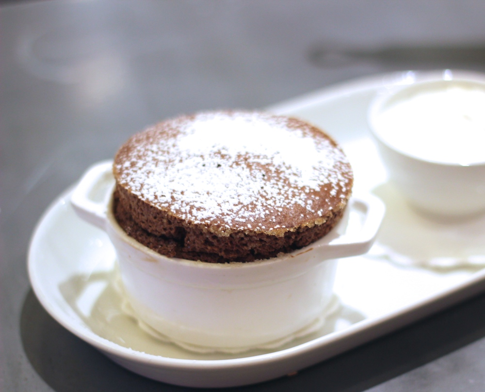 One Eleven's chocolate soufflé