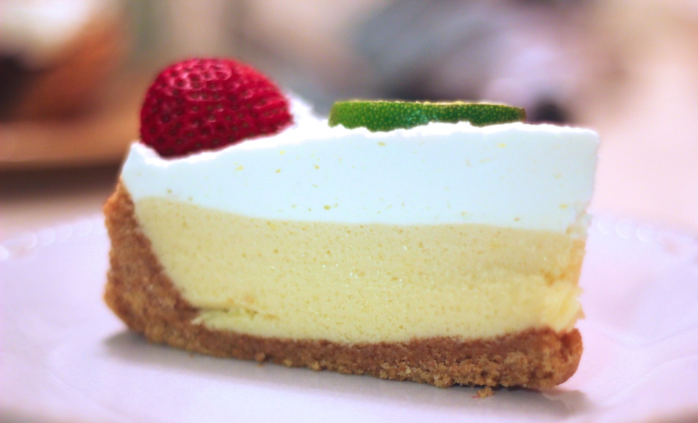 Key lime pie at Trio's