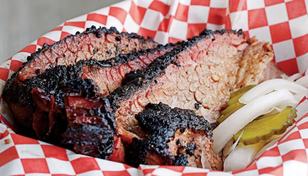 Pecan Lodge brisket (photo: Kevin Marple, TX Monthly)
