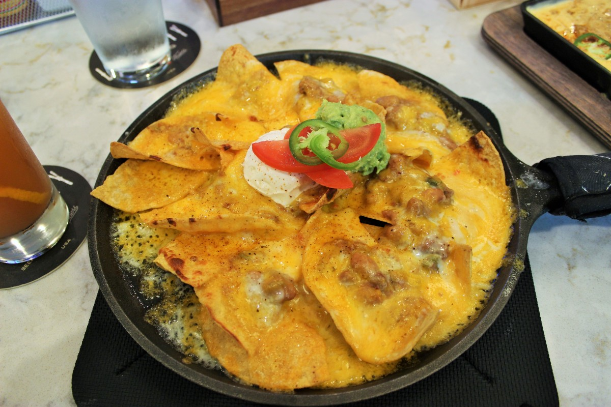 Smoky Bean Nacho Skillet at HTT