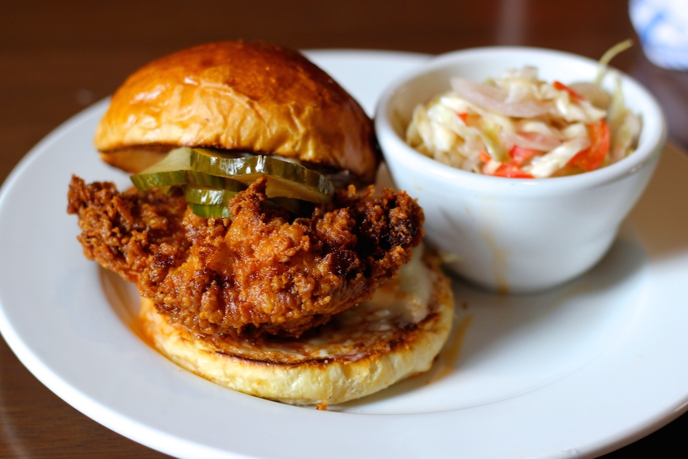 South on Main's hot chicken sandwich