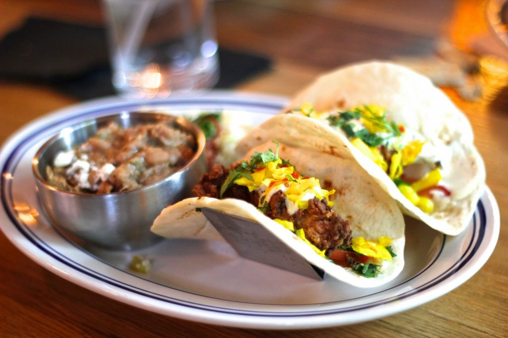 Pickle-Brined Fried Chicken Tacos - Heights Taco & Tamale Co.